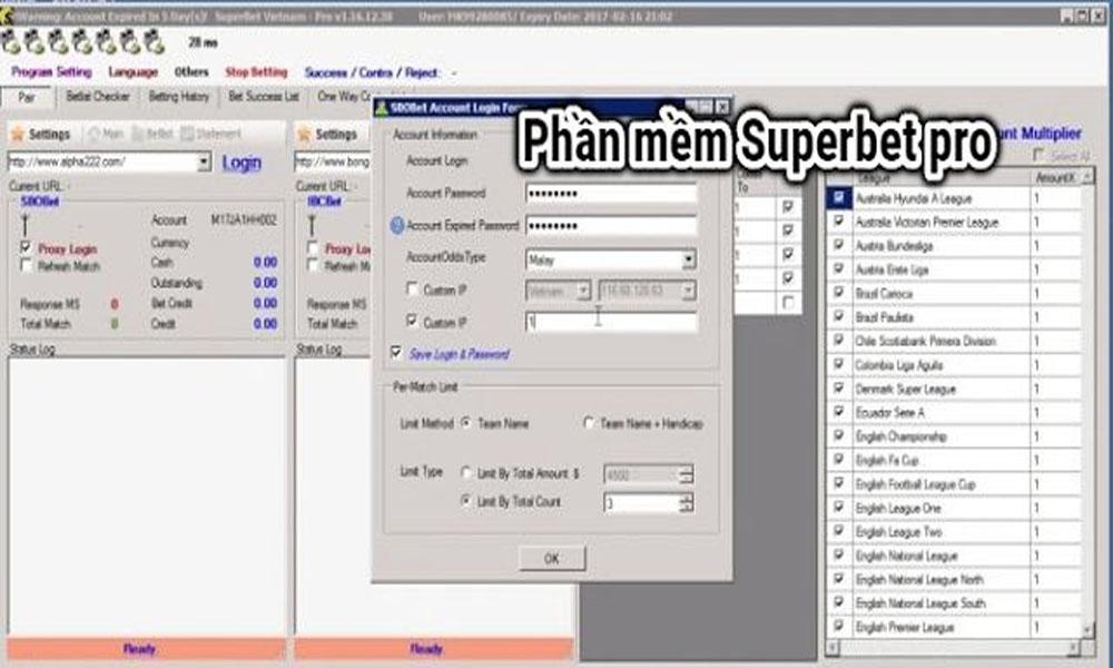 Phần mềm soi ODDS Superbet pro
