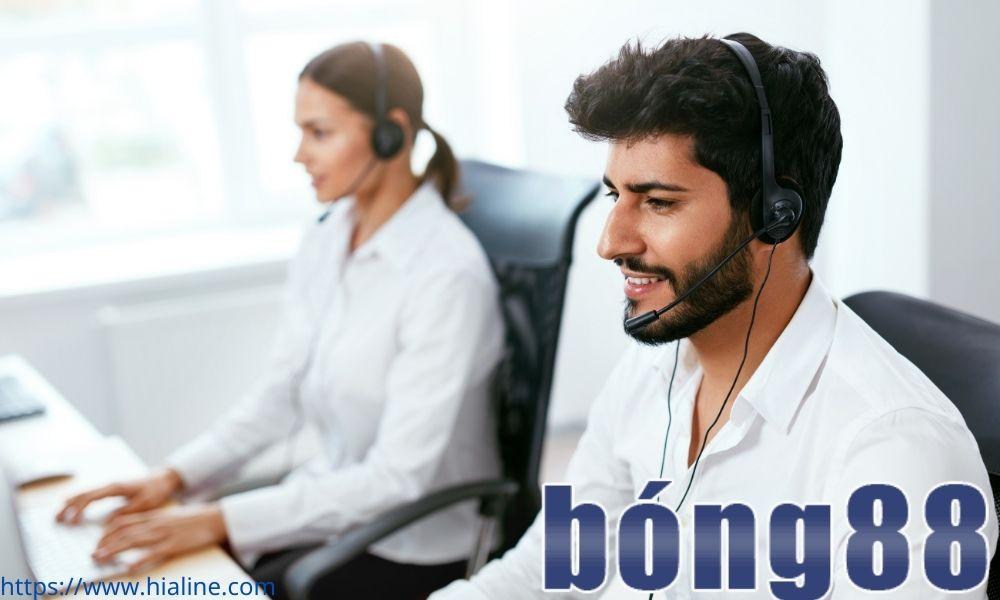 Tổng đài viên của Bong88 trực 24-24