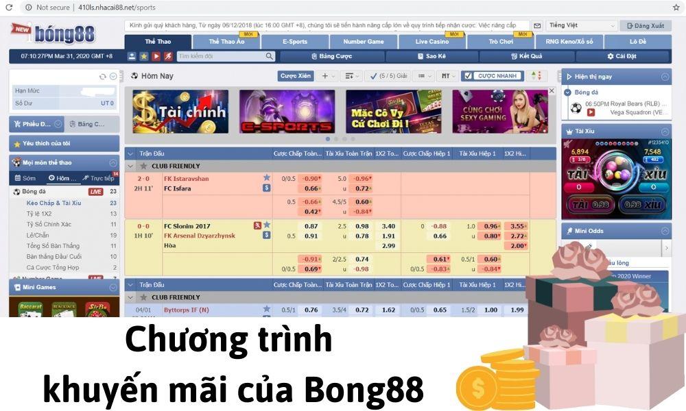 Chương trình khuyến mãi của Bong88